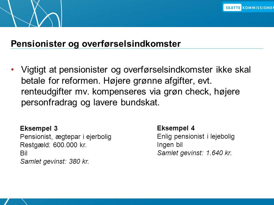 Pensionister og overførselsindkomster
