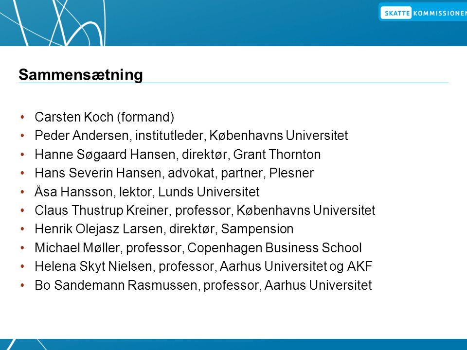 Sammensætning Carsten Koch (formand)