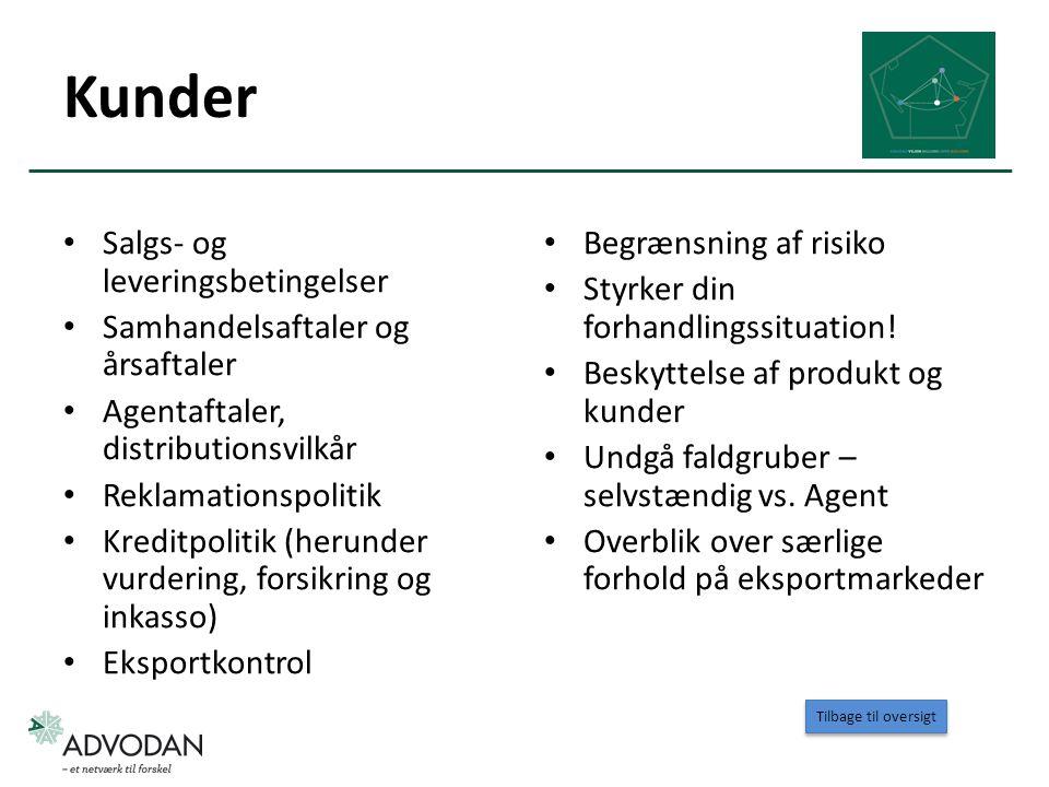 Kunder Salgs- og leveringsbetingelser Samhandelsaftaler og årsaftaler