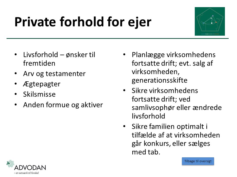 Private forhold for ejer