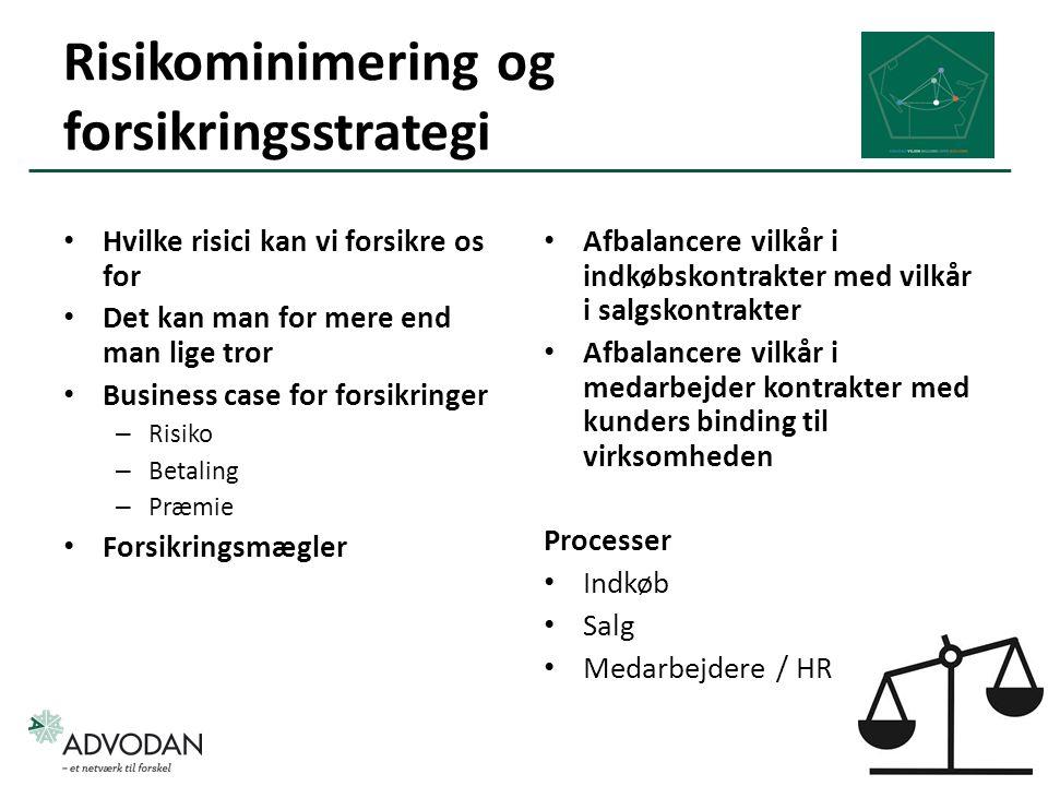 Risikominimering og forsikringsstrategi