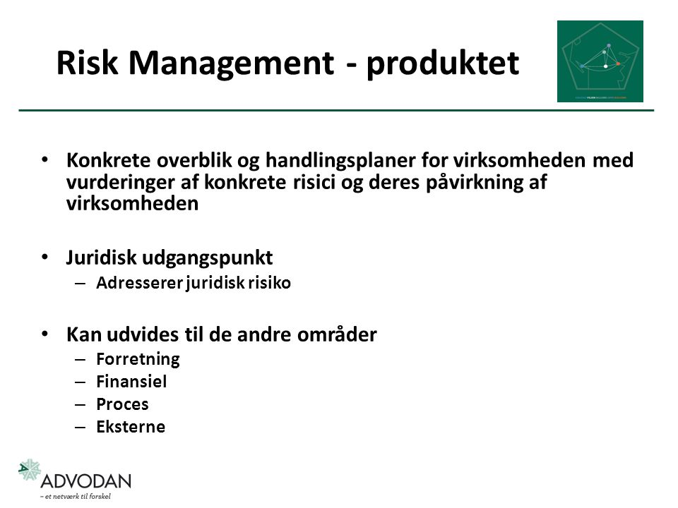 Risk Management - produktet