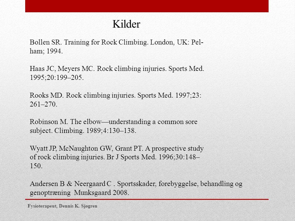 Kilder Bollen SR. Training for Rock Climbing. London, UK: Pel-