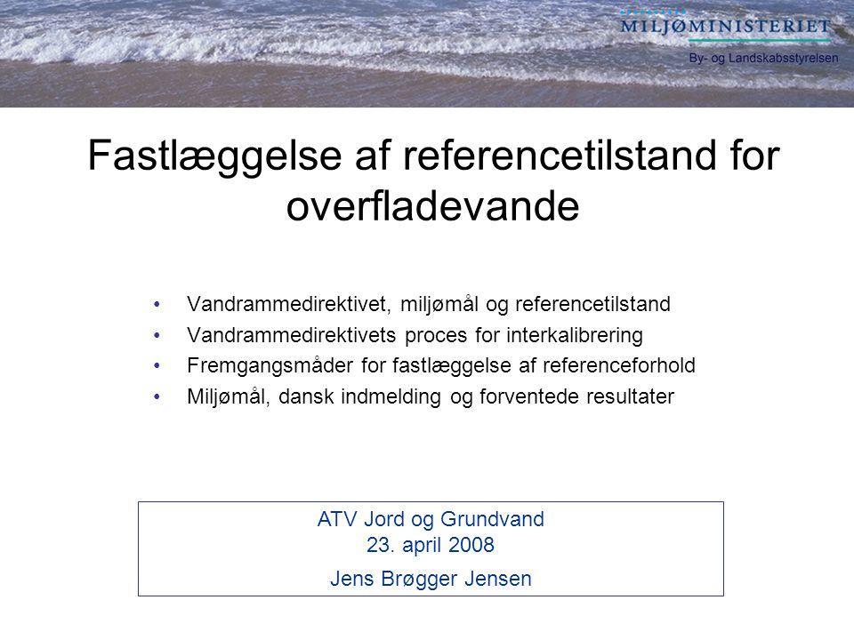 Fastlæggelse af referencetilstand for overfladevande