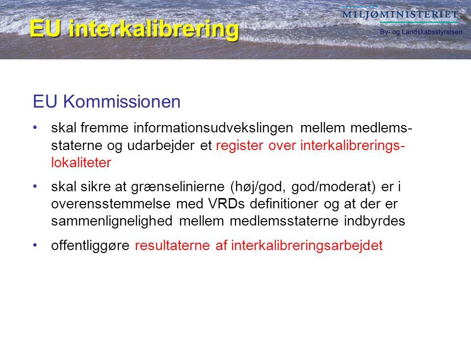 EU interkalibrering EU Kommissionen