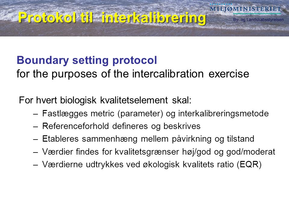 Protokol til interkalibrering