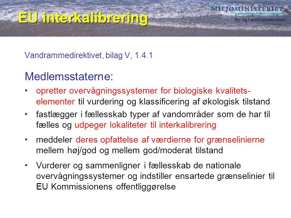 Vandrammedirektivet, bilag V, 1.4.1