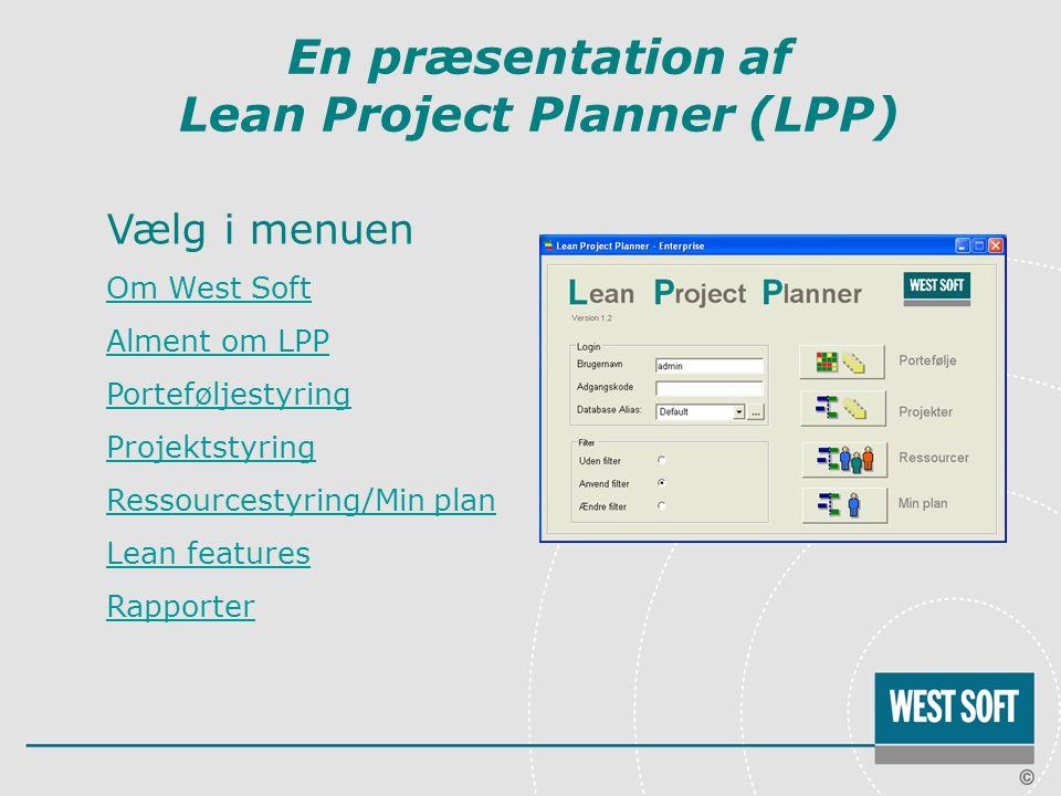 En præsentation af Lean Project Planner (LPP)