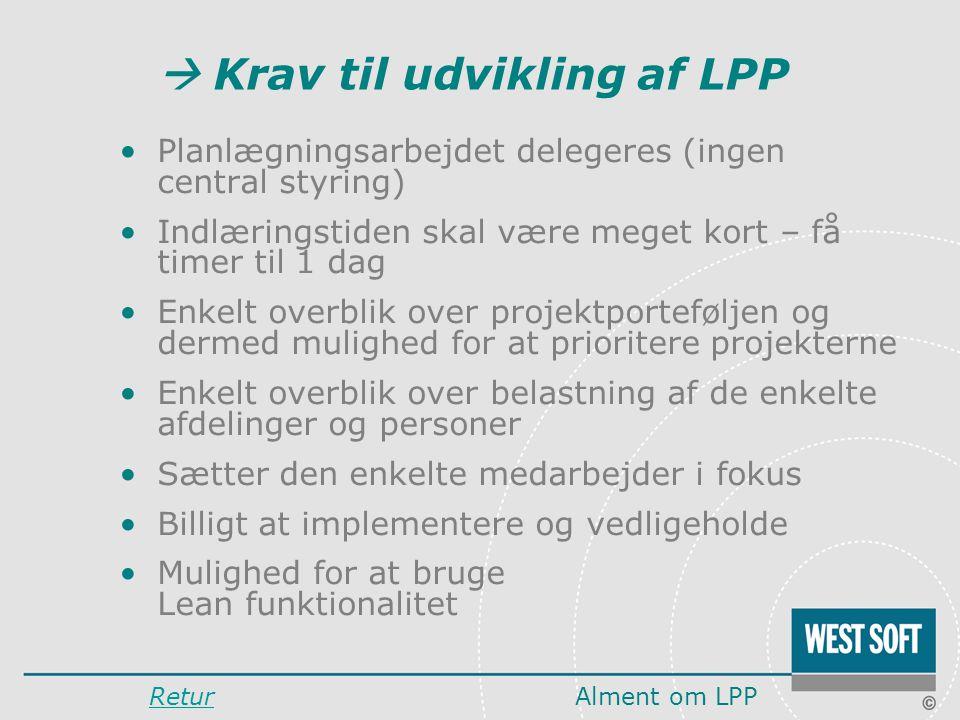  Krav til udvikling af LPP