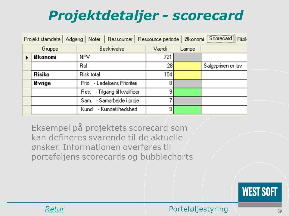 Projektdetaljer - scorecard