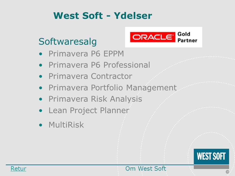 West Soft - Ydelser Softwaresalg Primavera P6 EPPM