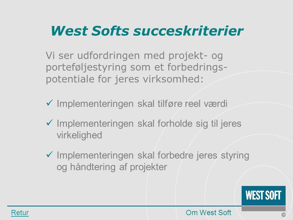 West Softs succeskriterier