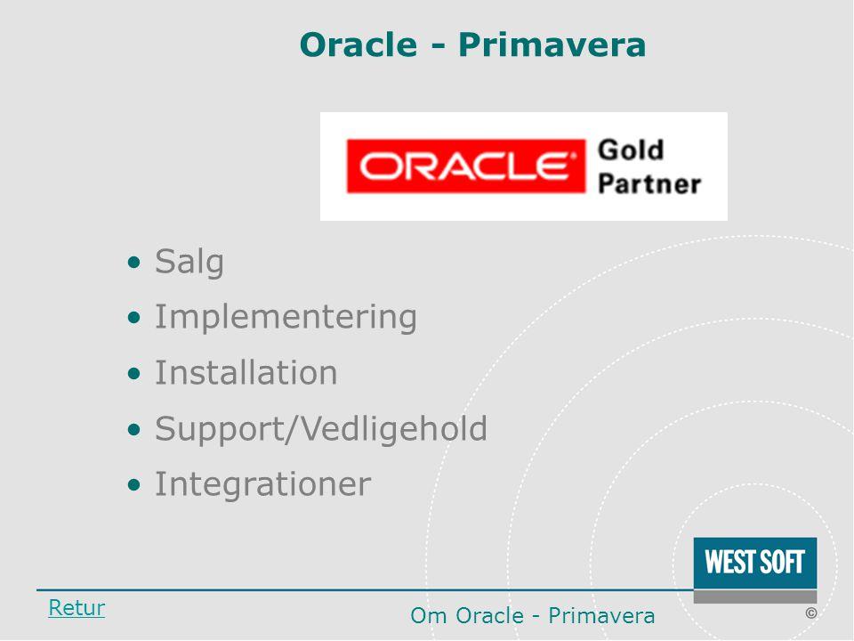 Oracle - Primavera Salg Implementering Installation