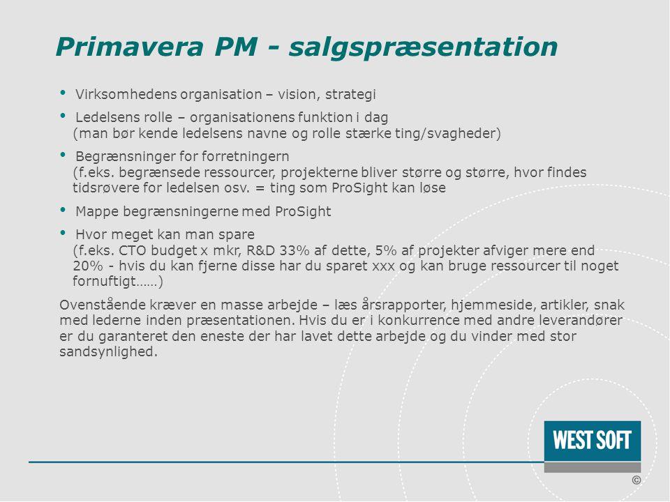 Primavera PM - salgspræsentation