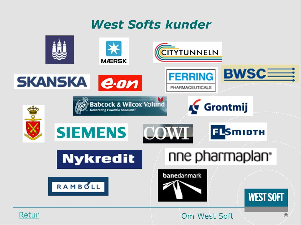West Softs kunder Retur Om West Soft