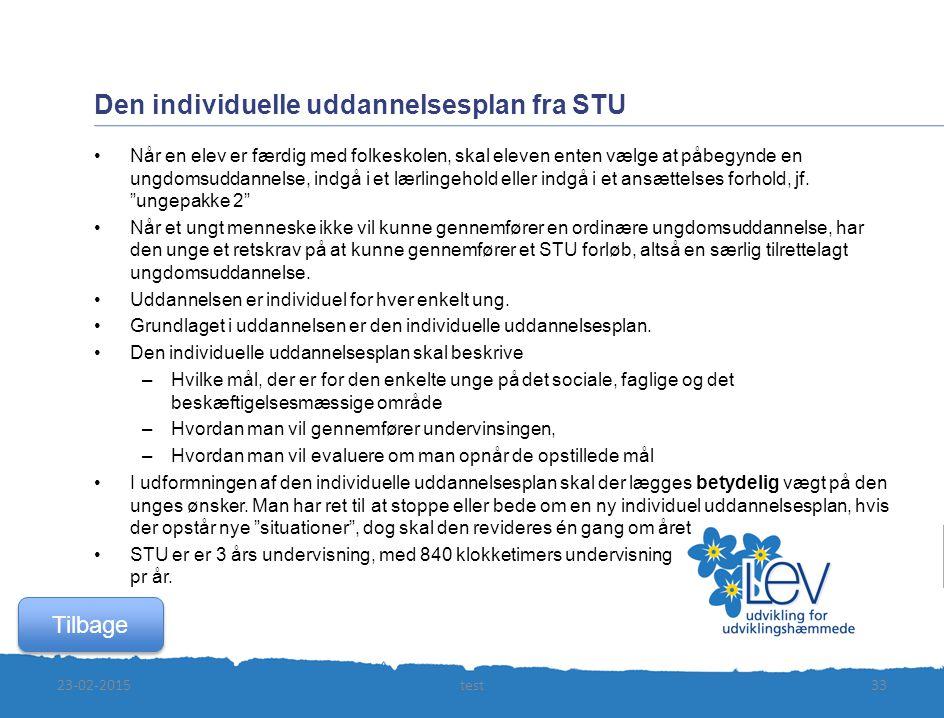 Den individuelle uddannelsesplan fra STU