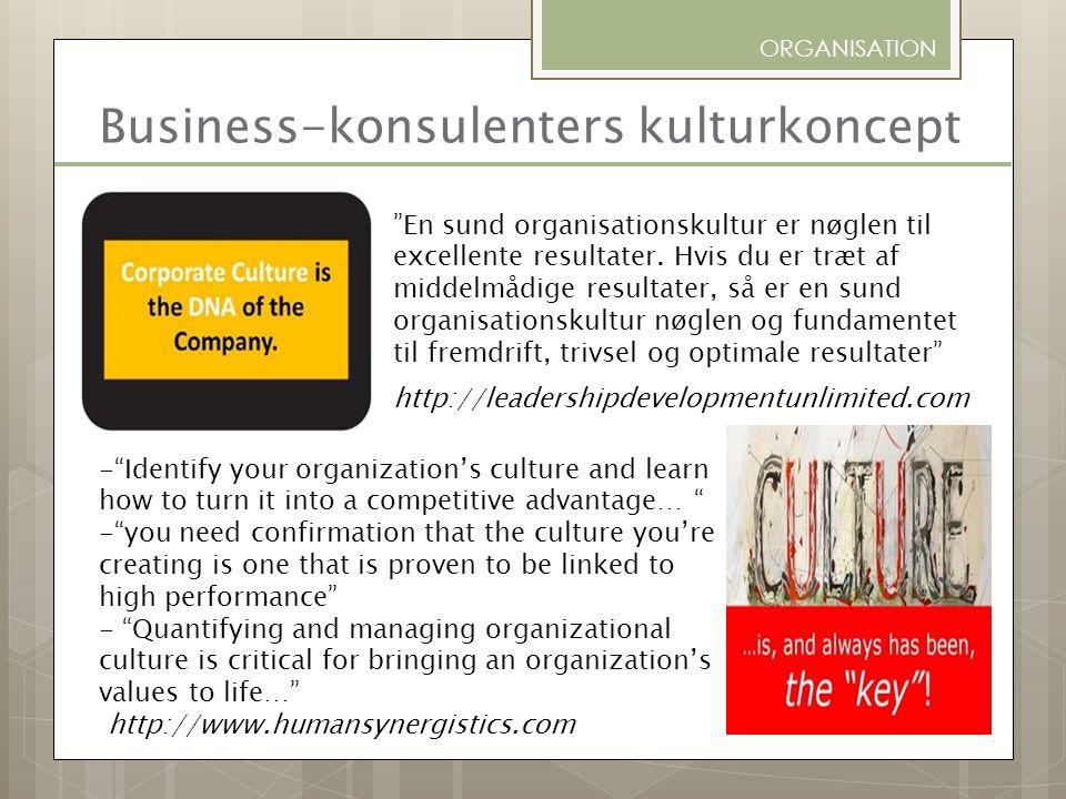 Business-konsulenters kulturkoncept