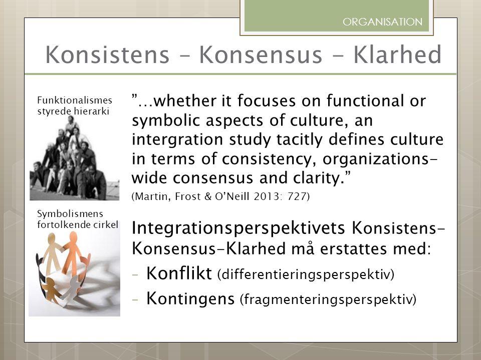 Konsistens – Konsensus - Klarhed