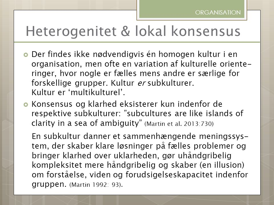 Heterogenitet & lokal konsensus