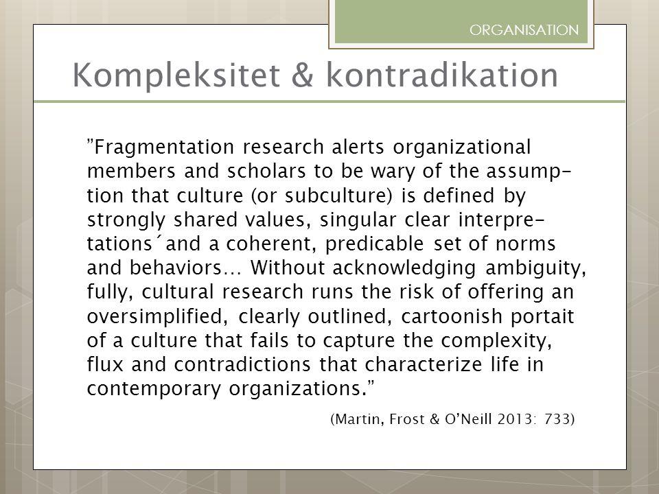 Kompleksitet & kontradikation
