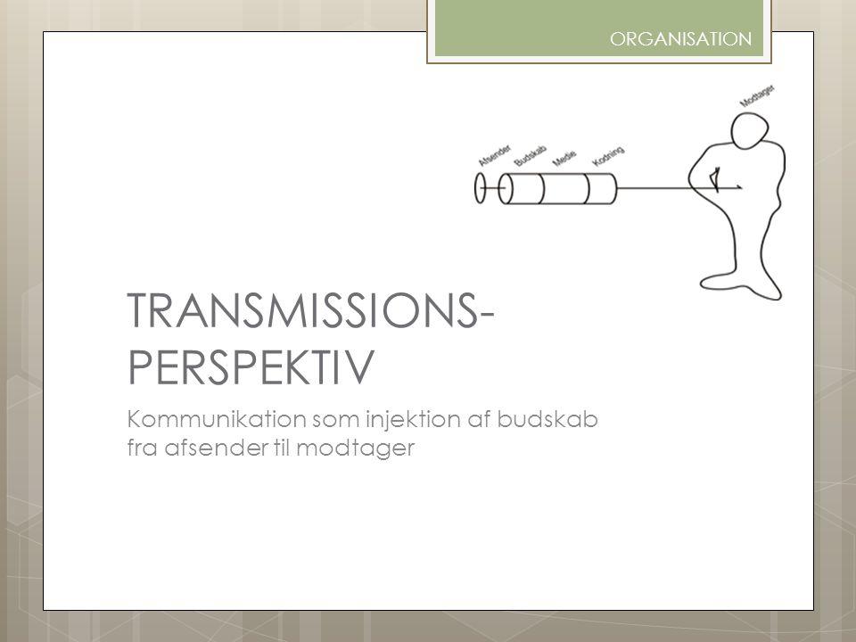 TRANSMISSIONS- PERSPEKTIV