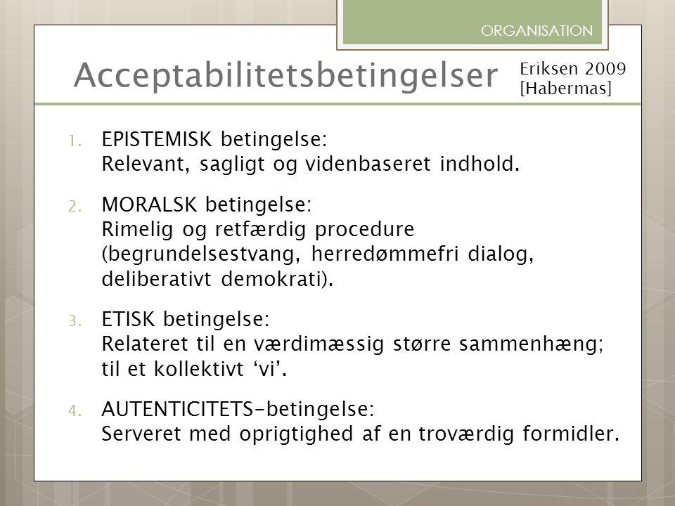 Acceptabilitetsbetingelser