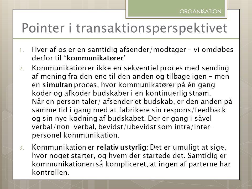 Pointer i transaktionsperspektivet