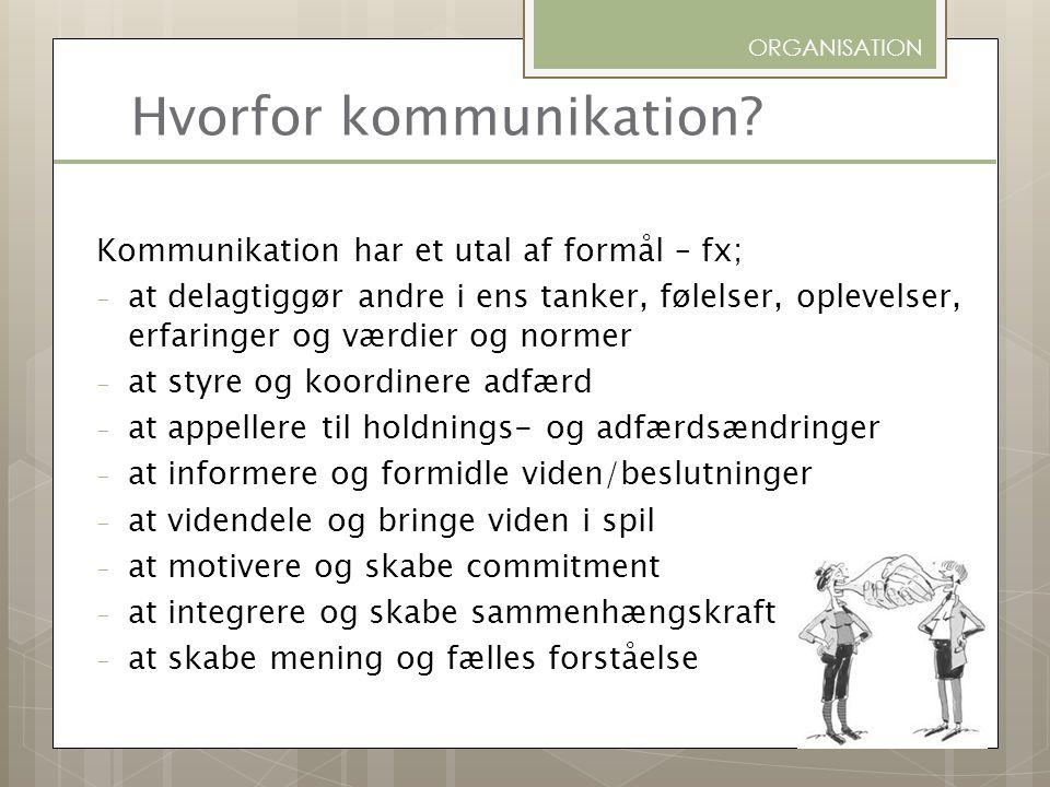 Hvorfor kommunikation