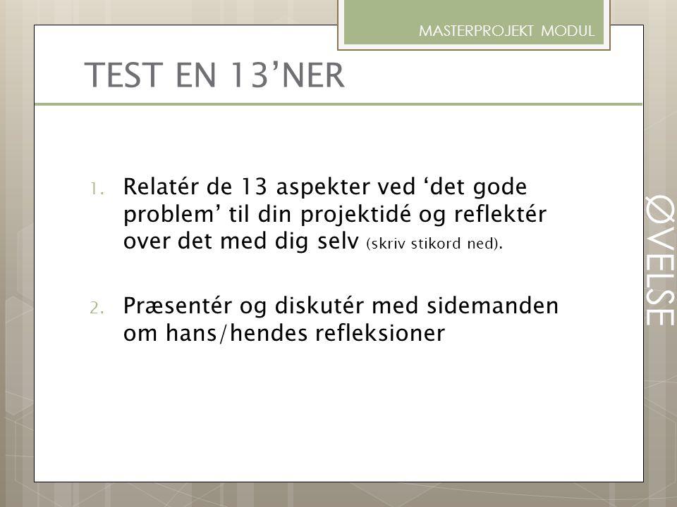 MASTERPROJEKT MODUL TEST EN 13'NER.