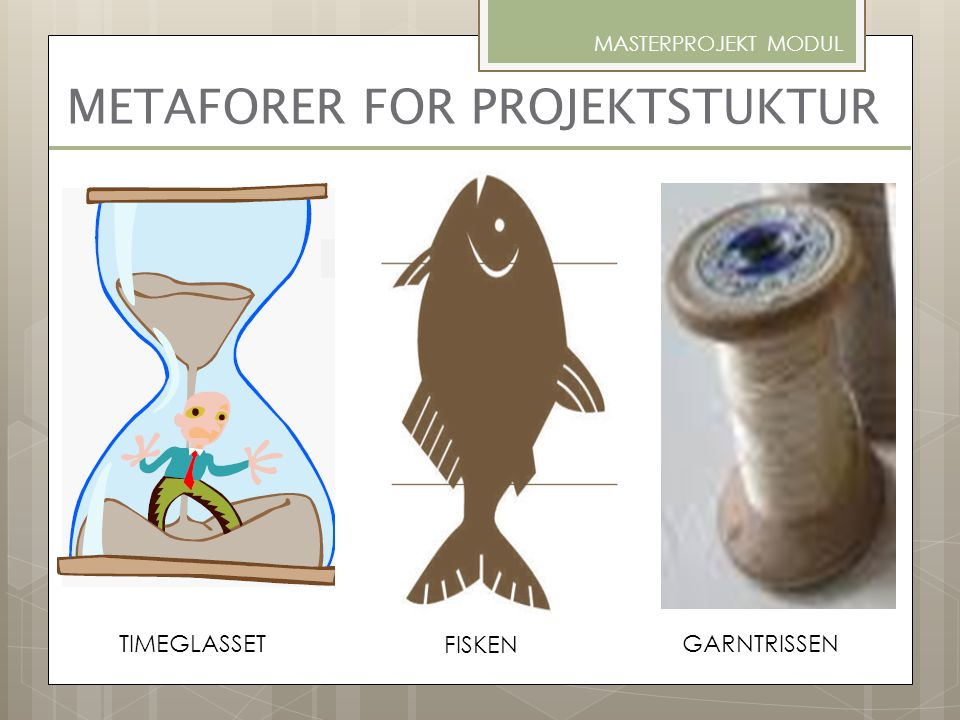 METAFORER FOR PROJEKTSTUKTUR