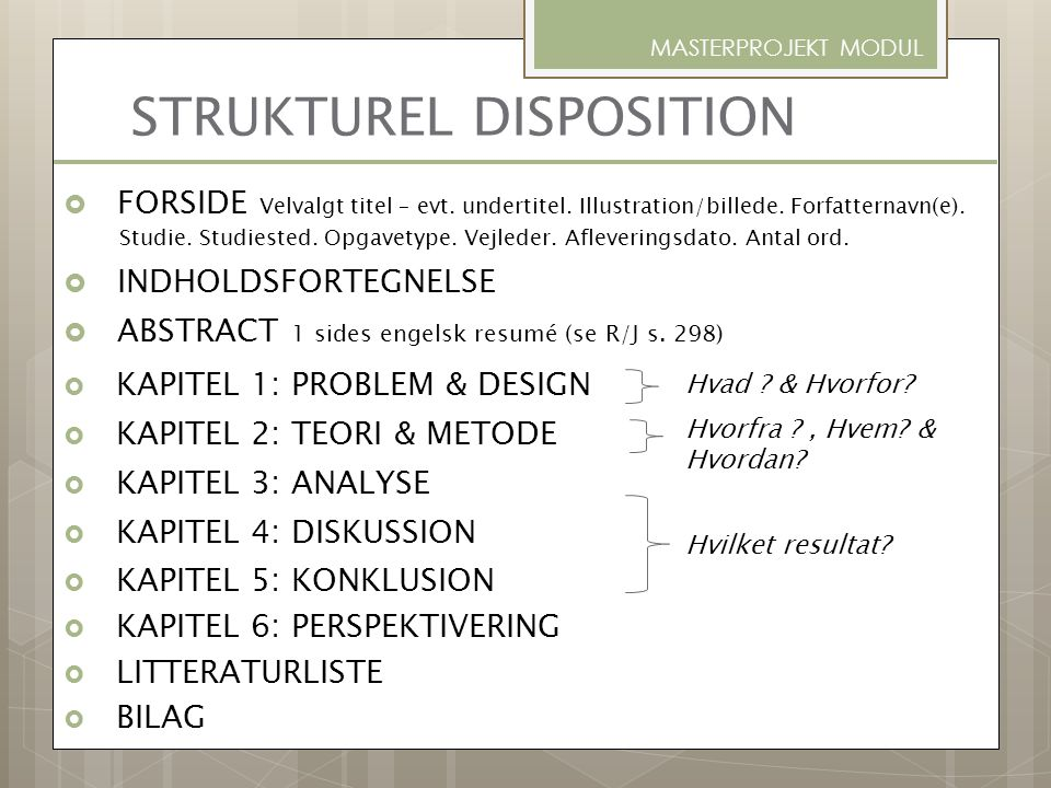 STRUKTUREL DISPOSITION