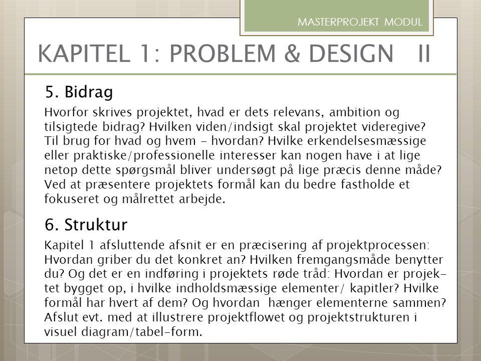 KAPITEL 1: PROBLEM & DESIGN II