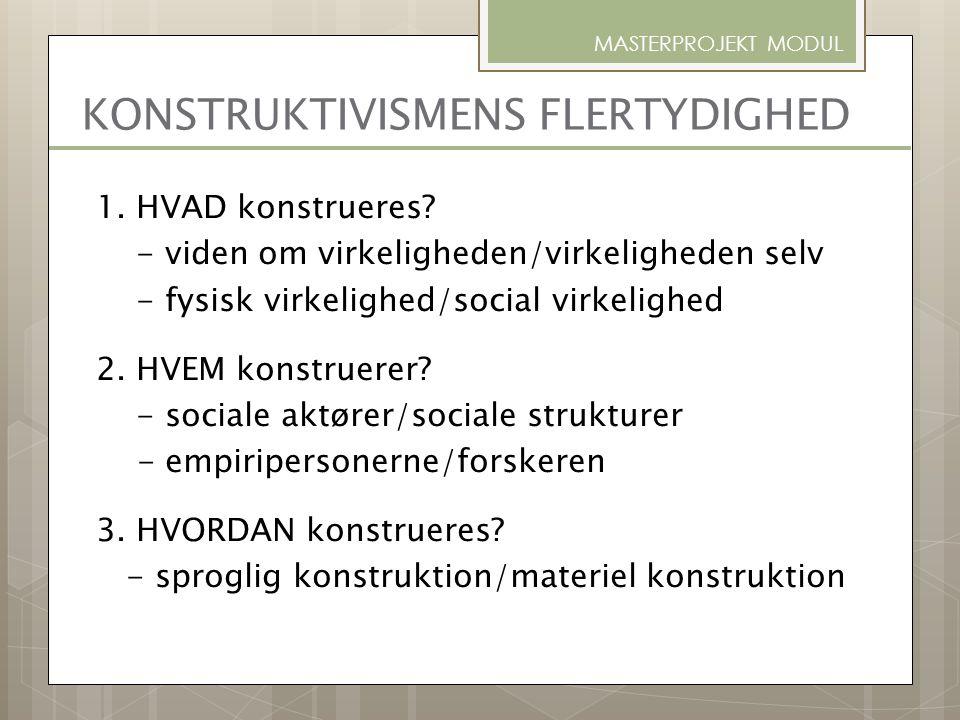 KONSTRUKTIVISMENS FLERTYDIGHED