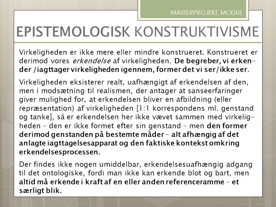 EPISTEMOLOGISK KONSTRUKTIVISME