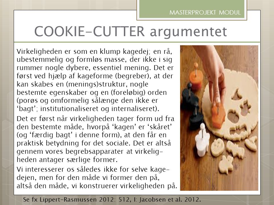 COOKIE-CUTTER argumentet