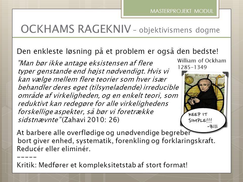 OCKHAMS RAGEKNIV – objektivismens dogme