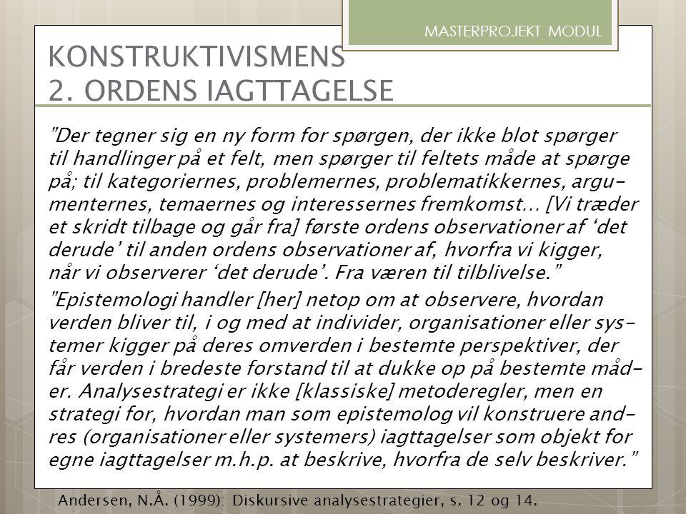 KONSTRUKTIVISMENS 2. ORDENS IAGTTAGELSE