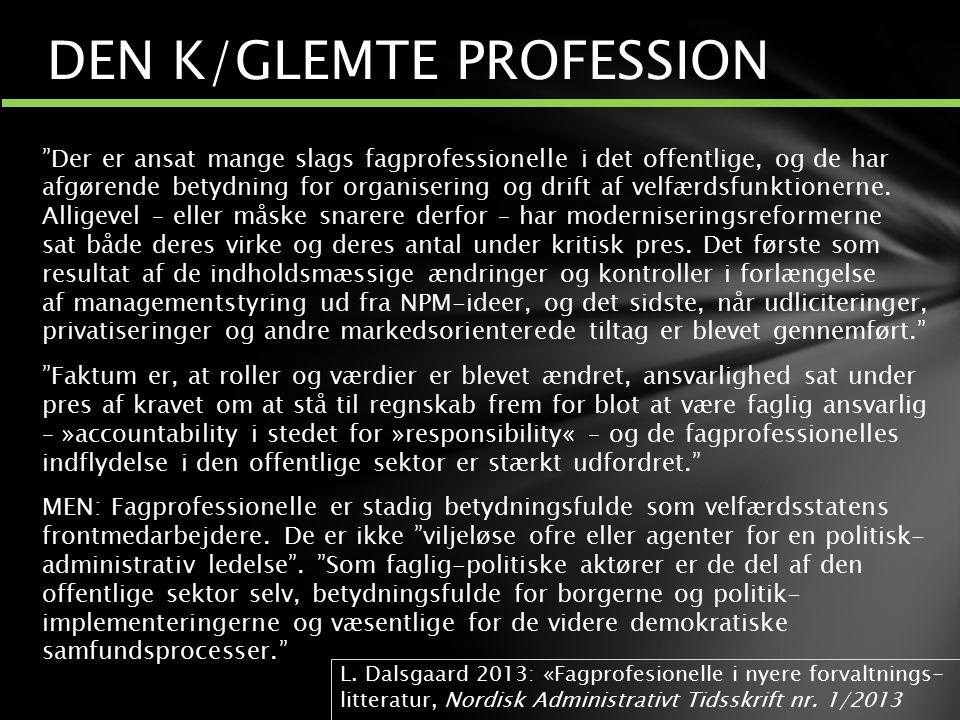 DEN K/GLEMTE PROFESSION