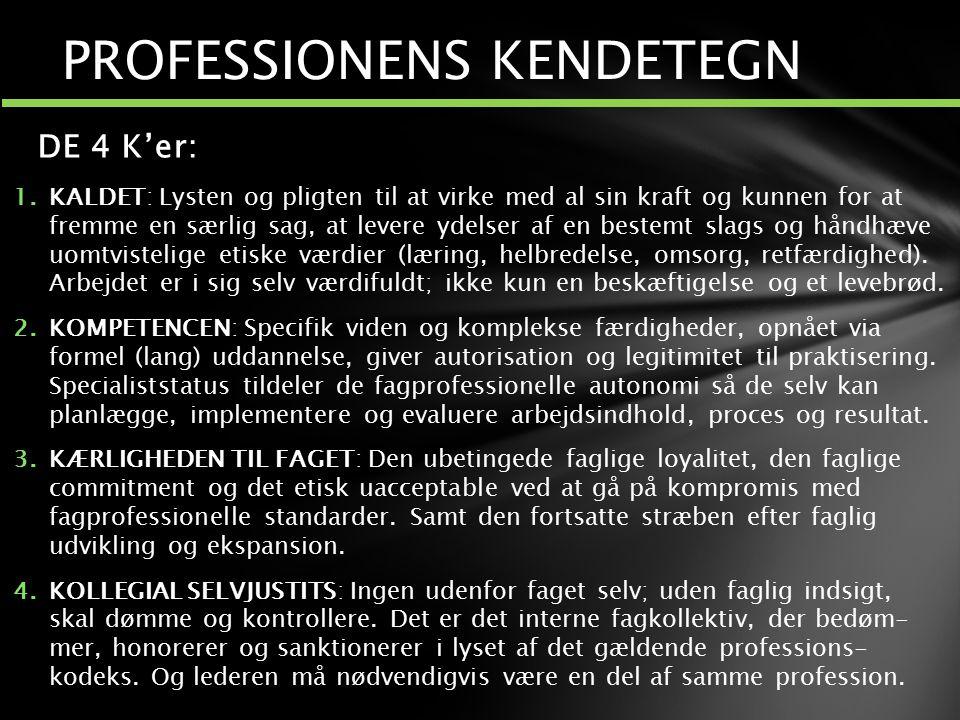 PROFESSIONENS KENDETEGN