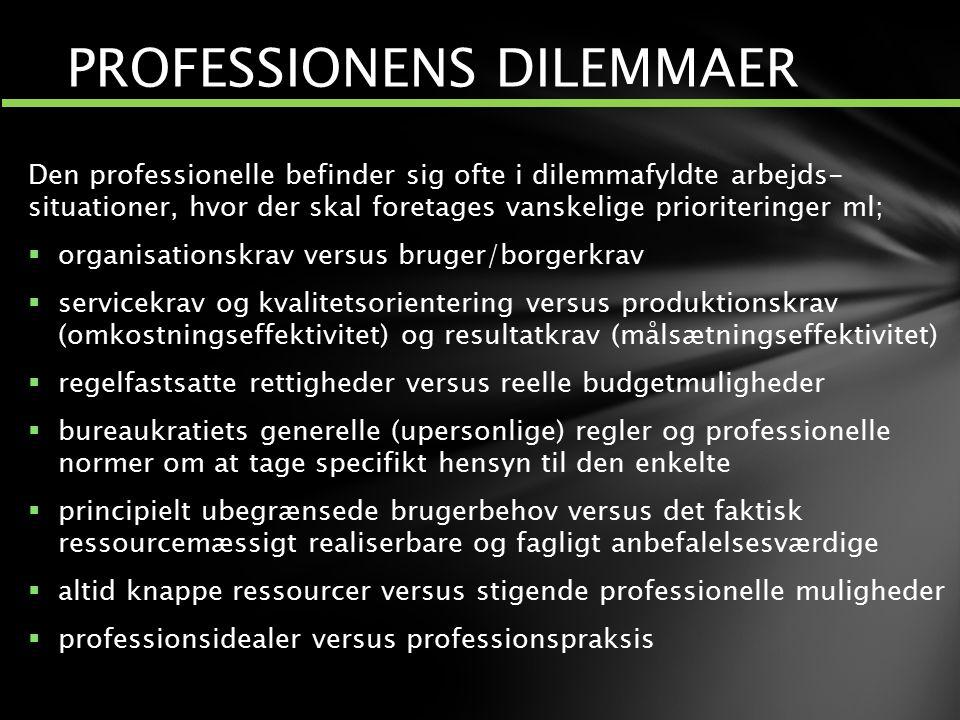 PROFESSIONENS DILEMMAER