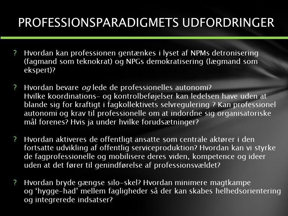 PROFESSIONSPARADIGMETS UDFORDRINGER