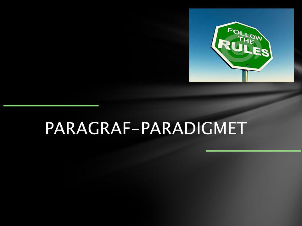 PARAGRAF-PARADIGMET