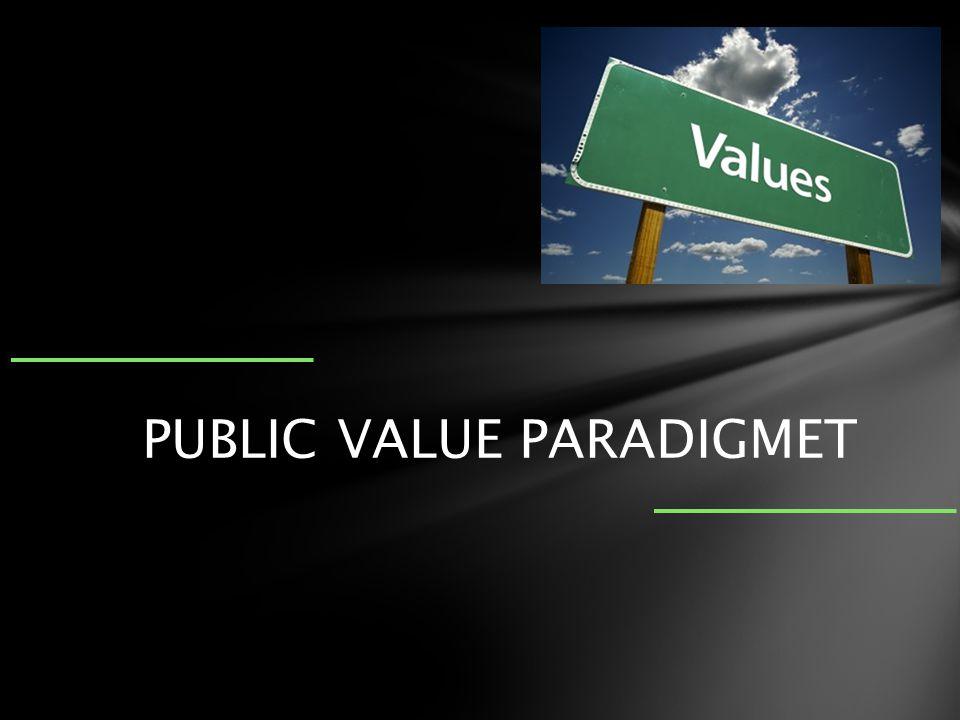 PUBLIC VALUE PARADIGMET