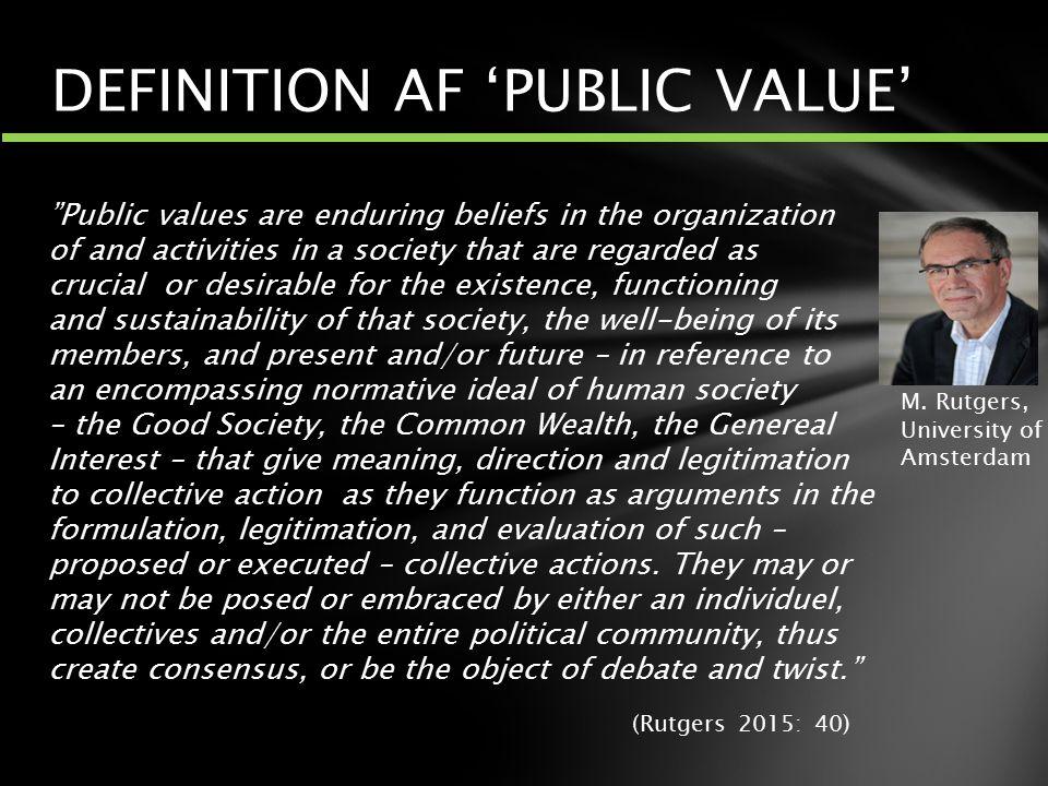 DEFINITION AF 'PUBLIC VALUE'