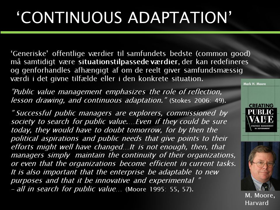 'CONTINUOUS ADAPTATION'