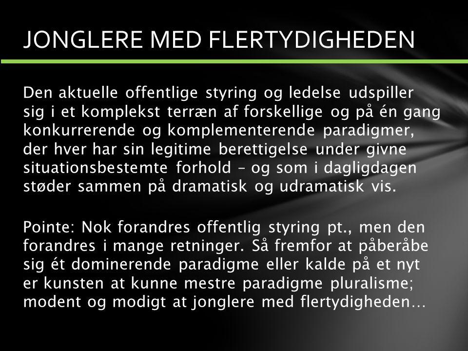 JONGLERE MED FLERTYDIGHEDEN