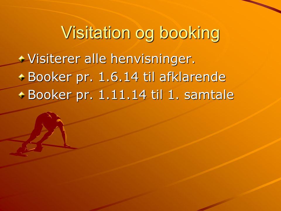 Visitation og booking Visiterer alle henvisninger.