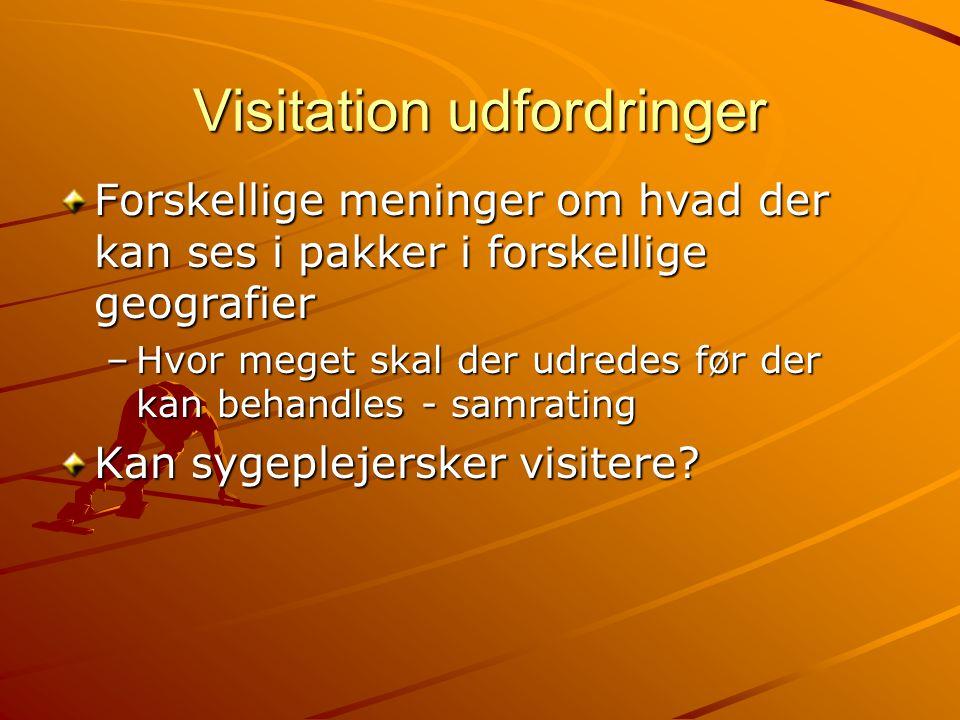 Visitation udfordringer
