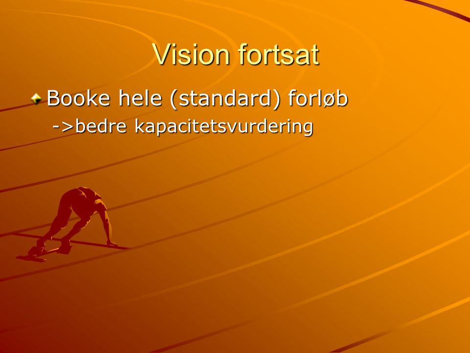 Vision fortsat Booke hele (standard) forløb