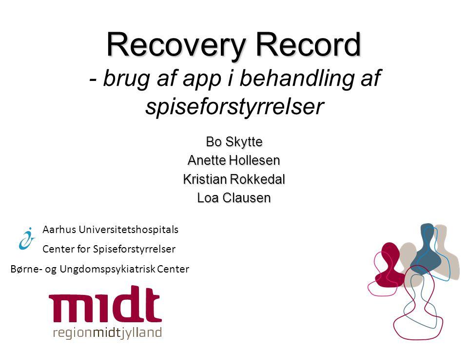 Recovery Record - brug af app i behandling af spiseforstyrrelser